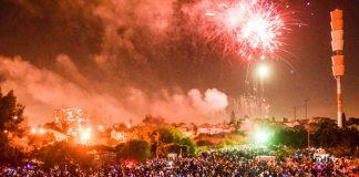 זיקוקים בחגיגות עצמאות בראשון לציון